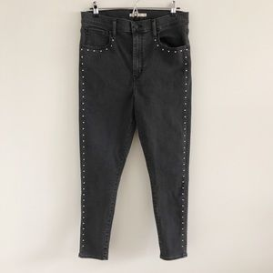 Levi's Studded Mile High Super Skinny Jeans 32